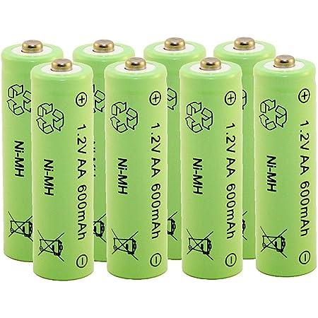 Akku Aufladbare Batterie Ni Mh Nimh Aa Mignon 1 2 Volt Elektronik