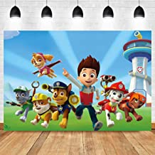MMY 5x3ft Cartoon Dogs Paw Patrol Photography Backdrop Baby Shower Kids Birthday Party Background Photobooth Props Vinyl Banner Supplies