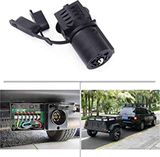 Weatherproof 7 to 4 Way 5 Way Trailer Adapter, 7 Pin Round to 4 Pin or 5 Pin Flat Blade Trailer Connector, 7 Way to 4 Way 5 Way Trailer Plug for Trailer Tow Hitch