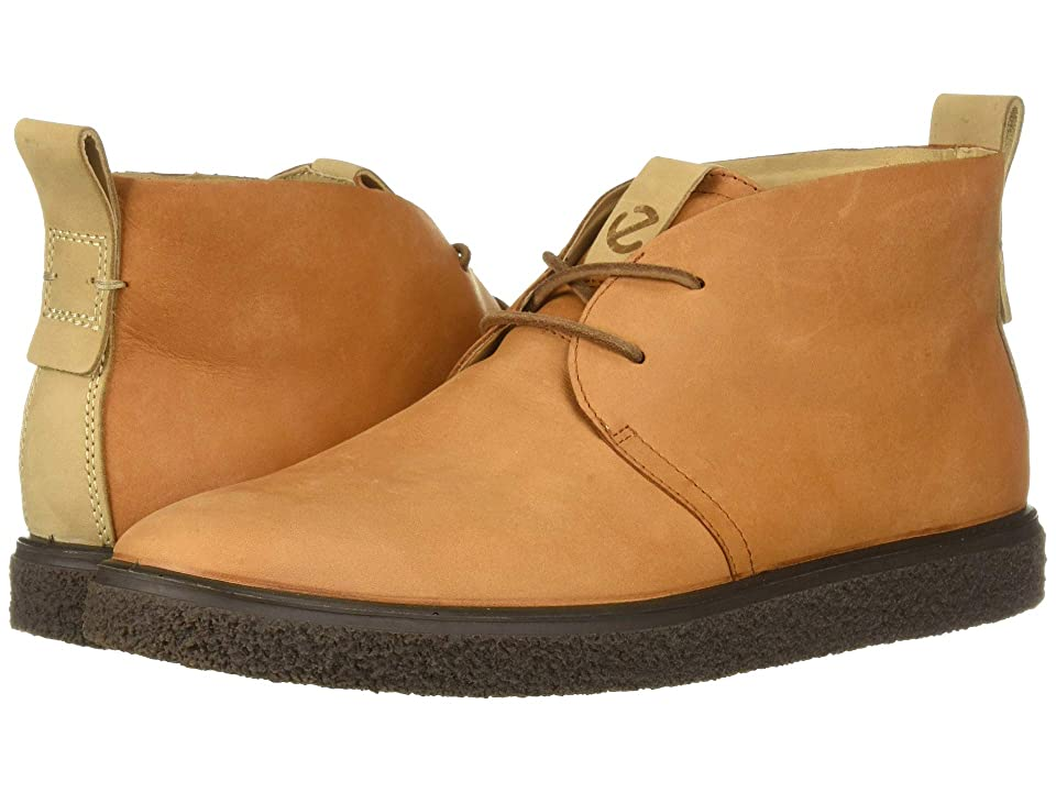 ECCO Crepetray Bootie (Amber Nubuck Leather) Women
