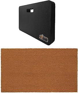 Gorilla Grip Kneeling Pad and Coir Door Mat, Kneeling Pad is Size 17.5x11x1.5 in Black Color, Door Mat is Size 24x16 in So...