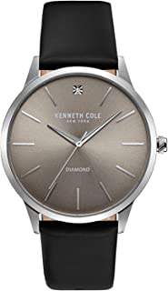 Kenneth Cole New York Mens Analogue Japanese-Quartz Watch with -Leather Strap 10031277