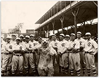 Lone Star Art 1908 Chicago Cubs with Mascot - 11x14 Unframed Print for Baseball and Chicago Cubs Fans