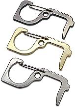 Set van 3 hygiënische haken contactloze deuropener contactloos als sleutelhanger anti-touch deur opener voor outdoor deurg...