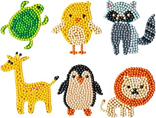 5D DIY Diamond Painting Stickers Kits for Kids Cute Animal Diamond Drawing Sparkle Stickers Mosaic Stickers Arts Craft for...