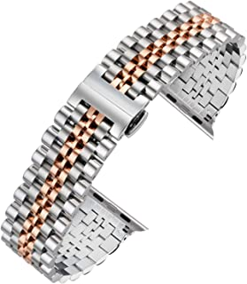 Autulet for Apple Watch Band Stainless Steel Strap For Apple Watch Series 4/3/2/1 Nike Sport
