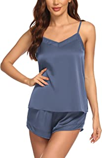 Ekouaer Sexy Pajama Set for Women Cami Shorts Set Womens Pajamas Set with Lace Trim