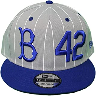 sports shoes 9a64d d553f New Era Brooklyn Dodgers 9FIFTY MLB Cooperstown Jackie Robinson Hat - Gray