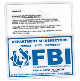 FBI Female Body Inspector Special Undercover Agent Novelty Drivers License / Fake I.d. Identification for Xfiles Fans
