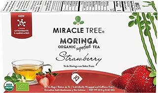 Miracle Tree - Organic Moringa Superfood Tea, 25 Individually Sealed Tea Bags, Strawberry