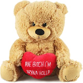 "Hollabears 10"" Aye Bitch I'm Tryna Holla Teddy Bear Plush"