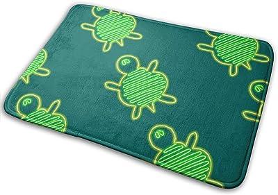Turtle Race Green Carpet Non-Slip Welcome Front Doormat Entryway Carpet Washable Outdoor Indoor Mat Room Rug 15.7 X 23.6 inch