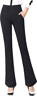 Women's Yoga Office Pants Dress Work Slacks Business Casual Trousers,High Waisted,Stretch,Flare