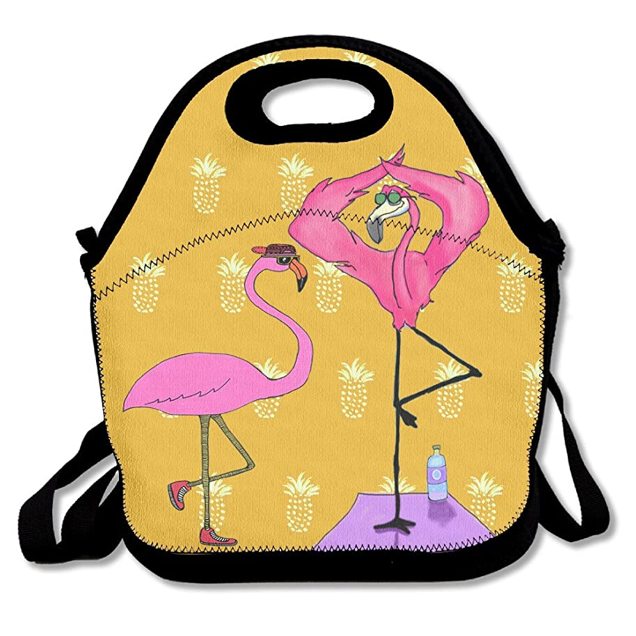 Swag Flamingo Yoga Handy Portable Zipper Lunch Box Lunch Tote Lunch Tote Bags
