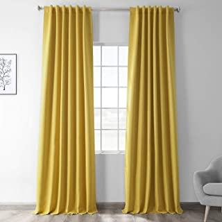 Half Price Drapes Blackout Curtain, Solarium Yellow, 50 x 84