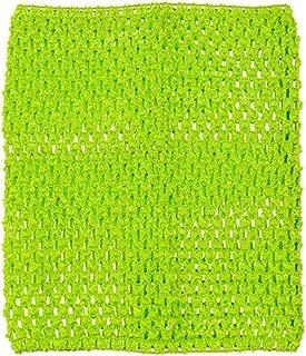green crochet tube top