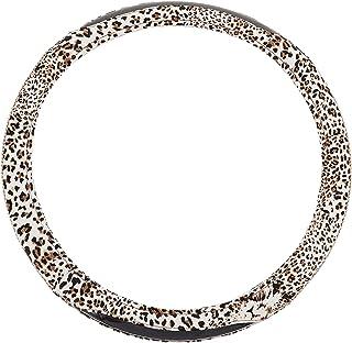 BESPORTBLE Leopardo Tampa Da Roda de Direcção Do Carro Volante Cobre Couro Brilhante Caso Protetor Acessórios Do Carro Aut...