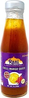 Rani Chilli Mango Sauce (Sweet & Spicy Dipping Sauce) 7oz (200g) Glass Jar, Ready to eat, Vegan ~ Gluten Free   NON-GMO   Indian Origin