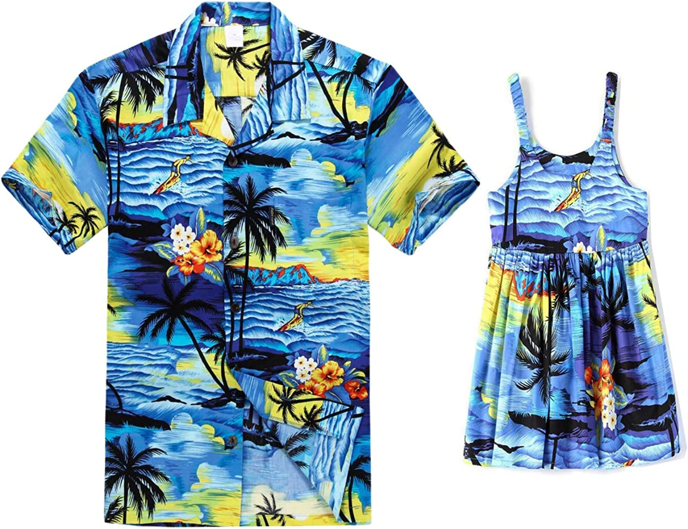 Cheap mail order specialty store Matching Father Daughter Hawaiian Luau Limited time sale Dre Shirt Girl Outfit Men