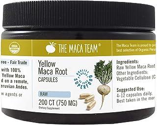 The Maca Team Organic Raw Maca Capsules, Fresh, Fair-Trade and GMO-Free Maca Powder Capsules, 750 MG, 200-Count