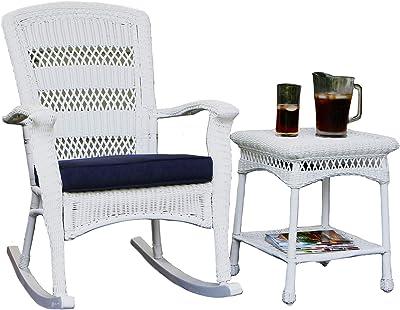 Amazon Com Costway Patio Metal Rocking Chair Outdoor