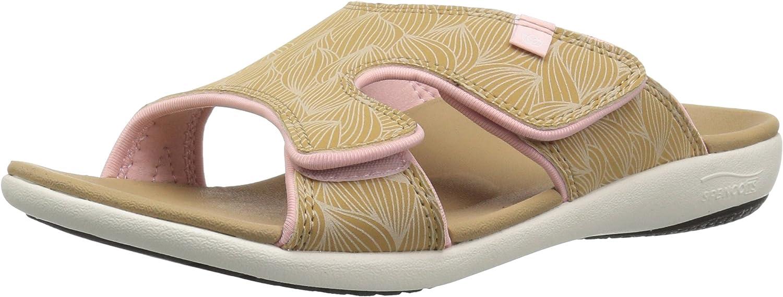 Spenco Women's Kholo Wave Slide Sandal, tan, 6 Medium US