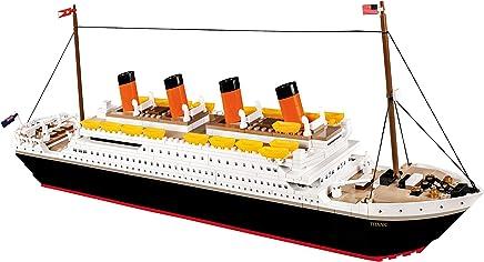 Navio R.M.S Titanic com 600 Peças COBI Blocos de Montar Branco
