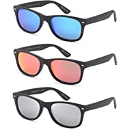 GAMMA RAY Polarized UV400 Classic Style Sunglasses with Mirror Lens and Multi Pack Options
