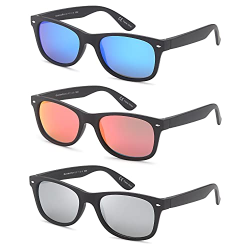 c20b092a345 GAMMA RAY Polarized UV400 Classic Style Sunglasses with Mirror Lens and  Multi Pack Options