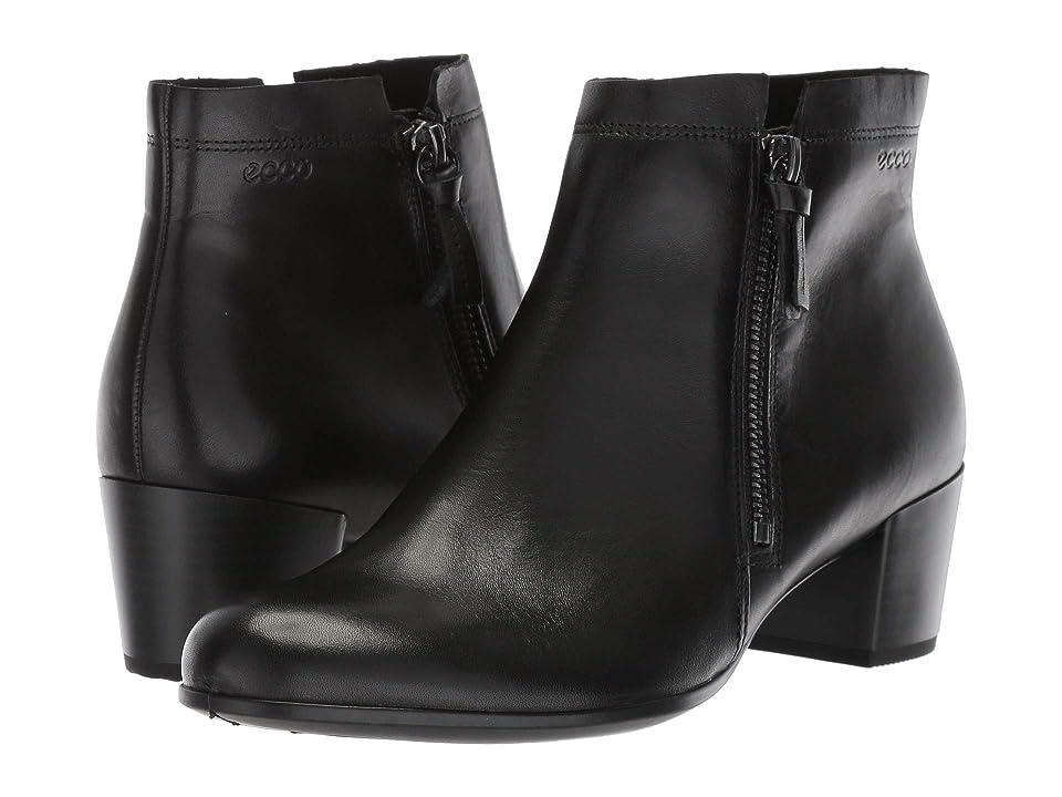 ECCO Shape M 35 Ankle Bootie (Black Cow Leather) Women