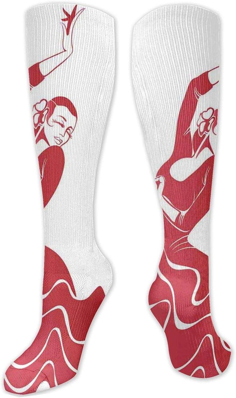 Fashion OFFicial Unisex Knee Bargain High Size(50CM One Socks