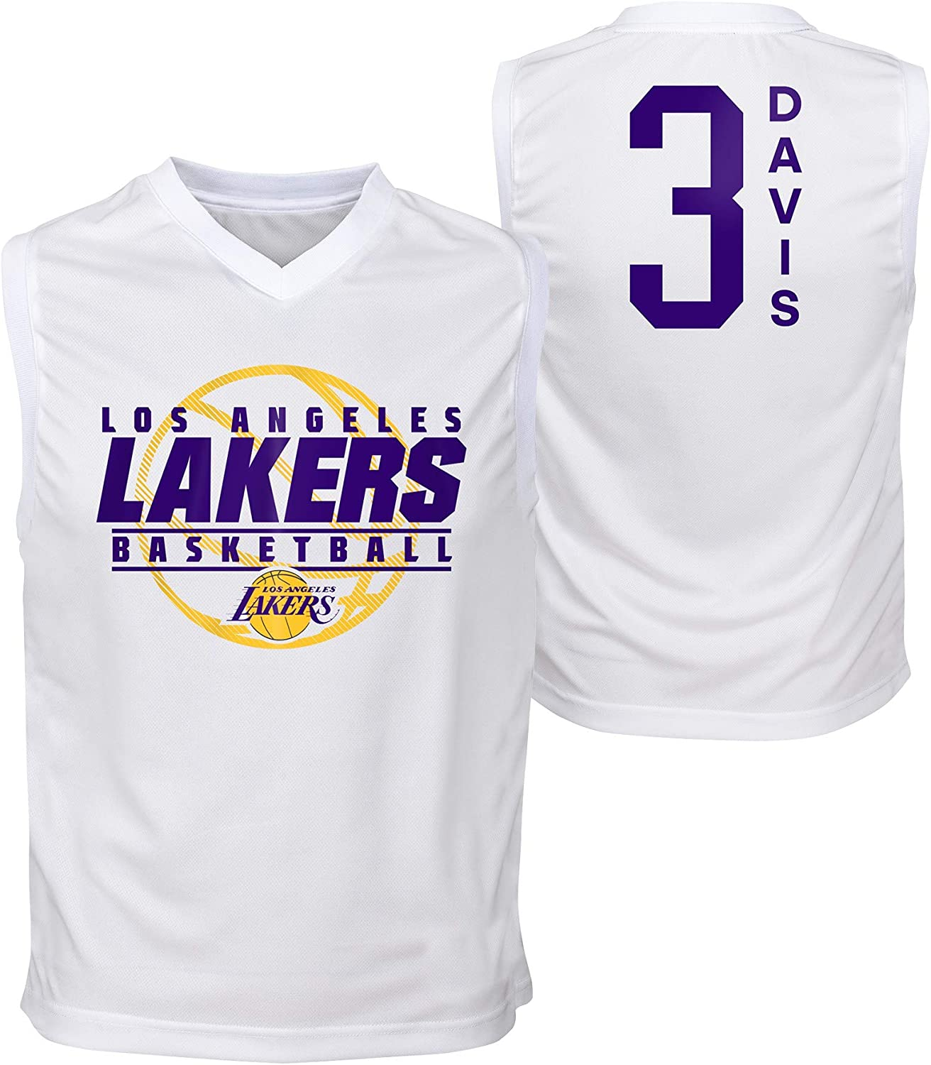 Outerstuff NBA Youth Boys (8-20) Los Angeles Lakers Anthony Davis Fast Lane Sleeveless Top