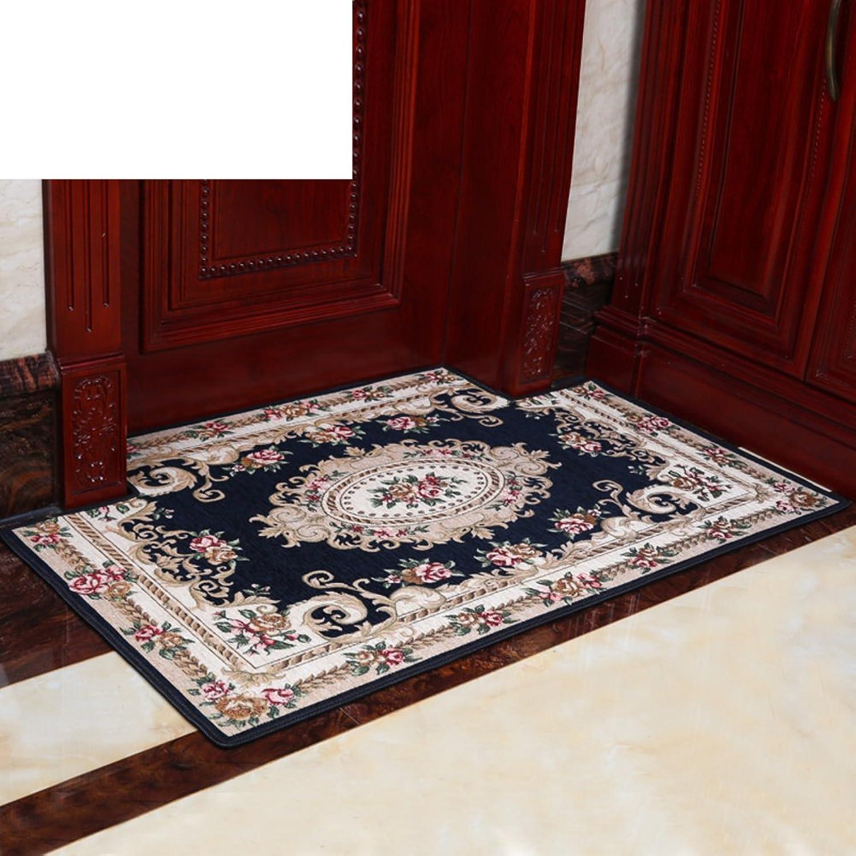 European-Style Floor Mats Doormat Foot Pad Door,Entrance,Hall,Living Room,Kitchen Floor Mats Bedroom,The Door,Household Non-Slip Mat-A 70x140cm(28x55inch)