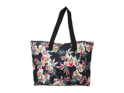 Roxy Wildflower Tote Bag (Anthracite Wonder Garden) Handbags
