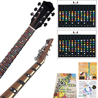 Guitar Trainer | Color Coded Fretboard Fret Map Guitar Note Stickers for Beginner to Advanced Learning of Guitar and Music Theory | Standard Edition (For Acoustic and Electric Guitars)