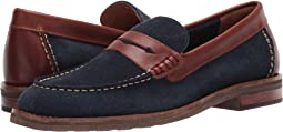 Navy/Brown Suede