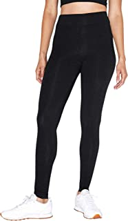 Women's Cotton Spandex Jersey High-Waist Leggings