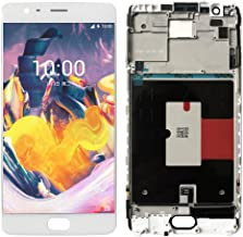For Oneplus 3 A3000 A3003 LCD Replacement Touch Screen Digitizer & LCD Display Assembly (White + Frame)