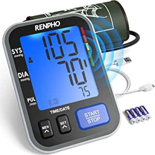 RENPHO Blood Pressure Monitor Upper Arm for Home Use with Speaker, Accurate Automatic Compact BP Machine with Extra Large Cuff 16.5 inch, Digital Large Display, 2-Users, 240 Recordings