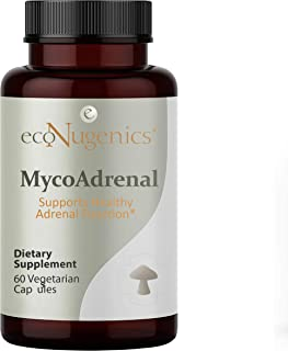 EcoNugenics MycoAdrenal Mushroom Supplement for Healthy Adrenal Support - Reishi, Cordyceps, Turkey Tail, Maitake, Shitake...