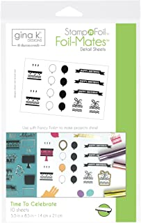 Gina K. Designs for Therm O Web StampnFoil Foil-Mates Detail Sheet Butterfly Kisses
