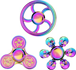 Fidget Spinners k Stress Relief Metal for Kids Adults Fidgeting Game for Anxiety Relief Focus Decompression - Finger Fidge...