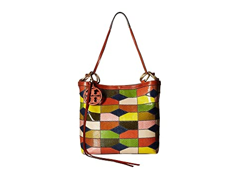 Patchwork Tory Snake Patchwork Snake Color sólido Farra Tote Burch SStOqU