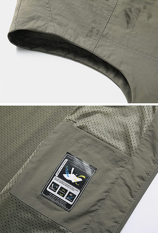 Kissonic Men's Casual Outdoor Lightweight Quick Dry Work Fishing Safari Travel Vest