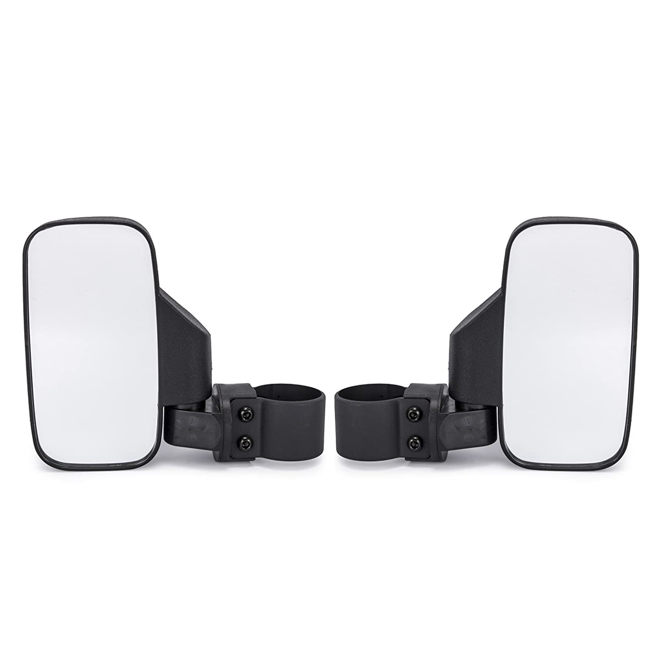 """universal UTV Rear View mirror Side Mirror mirror with 1.75"""" and 2"""" Roll Bar Cage,Easily Adjustable fir for Polaris Ranger RZR Can-Am Maverick (Pair of Side View Mirror)"""