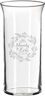 Monogrammed Center Piece Flower Vase for Weddings, Anniversaries, Couples, Engagements - Custom Etched for Free