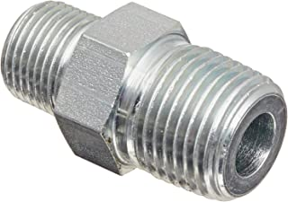 Hex Nipple 1.26 inches Length 1//4 x 1//8 NPT Male Eaton Products Eaton Weatherhead C3069X4X2 Carbon Steel Fitting Pack of 4 1//4 x 1//8 NPT Male