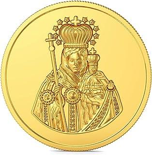 Joyalukkas 22k (916) 4 gm BIS Hallmarked Yellow Gold Precious Coin with St.Mary Design