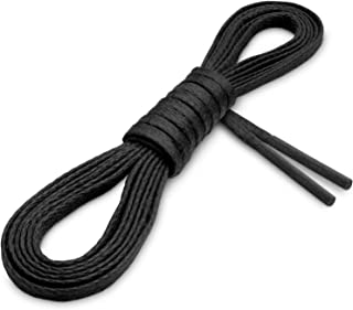 Waxed Thin Flat Dress Shoelaces [3 Pairs] 1/8
