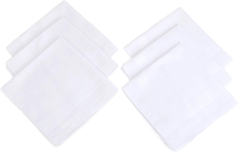 Men's Solid Cotton Handkerchiefs 6 pieces